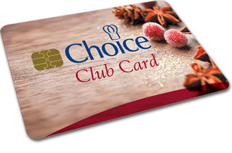 Choice savings card